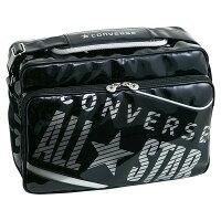 CONVERSE/コンバース C1365052-1913 エナメルショルダー ブラック×シルバー