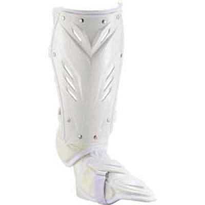 ZETT/ゼット BLL2095L-1100 打者用 レッグガード 右打者用 ホワイト