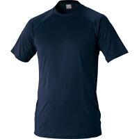 ZETT/ゼット BO1710-2900 ハイブリッドアンダーシャツ ローネック半袖 ネイビー