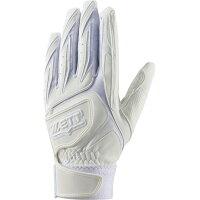 ZETT/ゼット BG455HS-1100 バッティング手袋 ダブルベルト 高校生対応 両手用 ホワイト