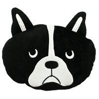 ポーチ ブルトン 犬 フレンチブルドッグ フェイス ブラック 15×20cm TS-563-70