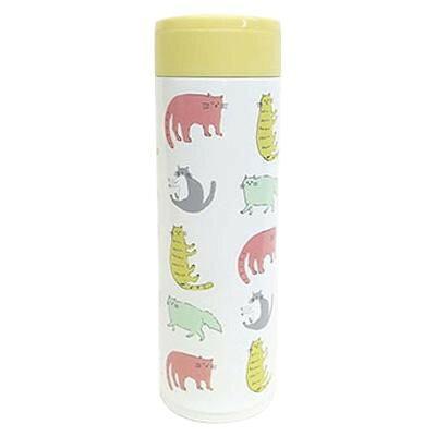 猫のステンレスボトル 保冷&保温 ステンレス製携帯用まほうびん