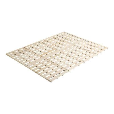 Sすのこベッド 4つ折り式 桐仕様ダブルSommeil-ソメイユ- ベッド
