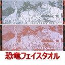 恐竜博士 フェイスタオル 2色 ジャガード織 35cm×88cm 綿100%