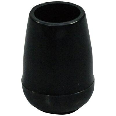 光 イス脚キャップ パイプ用 黒丸12.7 BE8122
