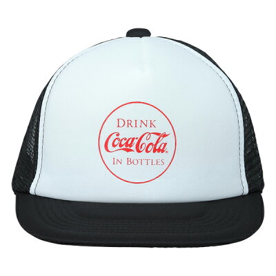 Coca-Cola コカ コーラ メッシュキャップ IN BOTTLES ホワイトXブラック