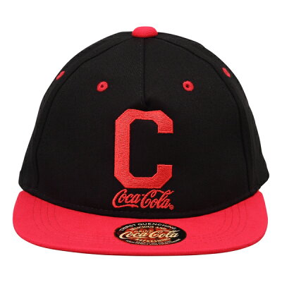 """Coca-Colaコカコーラ ベースボールキャップ """"C"""" ブラック/レッド"""