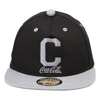 """Coca-Colaコカコーラ ベースボールキャップ """"C"""" ブラック/グレイ"""