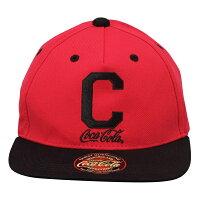 """Coca-Colaコカコーラ ベースボールキャップ """"C"""" レッド/ブラック"""