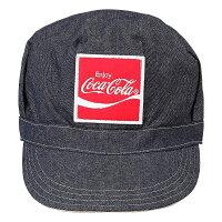 Coca-Colaコカコーラ リバーシブル ワークキャップ ベージュ/ブルー