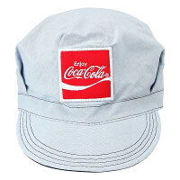 Coca-Colaコカコーラ リバーシブル ワークキャップ ブラック/ブルー