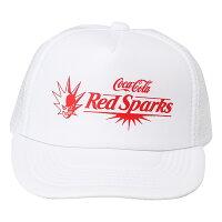 Coca-Colaコカコーラ レッドスパークス メッシュキャップ ホワイト
