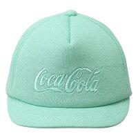 Coca-Cola コカ コーラ スウェットキャップ 厚盛り刺繍 スペンサーロゴ グリーン