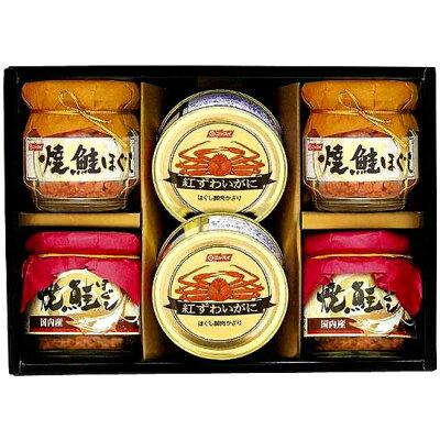 中森亭 ニッスイ蟹缶 あけぼの鮭瓶詰合せHN301