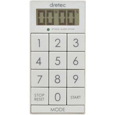 ドリテック デジタルタイマー スリムキューブ ホワイト T-520WT(1コ入)