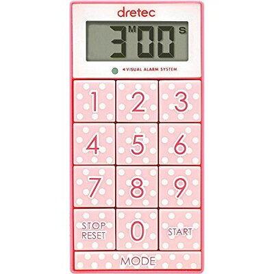 ドリテック デジタルタイマー スリムキューブ ピンク T-520PK(1コ入)