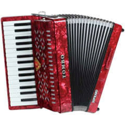 TOMBO トンボ TB-32S ソプラノ 赤パール Ensemble 合奏用アコーディオン 32鍵