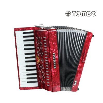 TOMBO トンボ TB-32A アルト 赤パール Ensemble 合奏用アコーディオン 32鍵