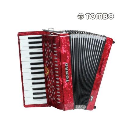 TOMBO トンボ TB-32B バス 赤パール Ensemble 合奏用アコーディオン 32鍵