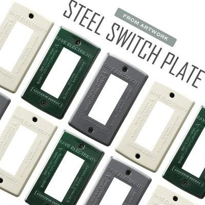 ARTWORKSTUDIOオフィシャルショップ STEEL Switch plate 3スチールスイ