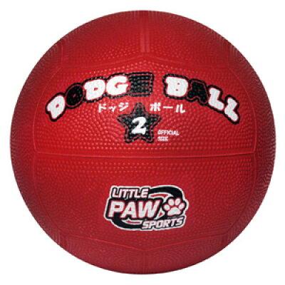 LEZAX/レザックス LPFS-5767RD LITTLE PAW SPORTS ゴムドッジボール 赤