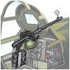 1/72 ナノ・アヴィエーションシリーズ MG15 7.92mm旋回機銃 海軍一式/陸軍九八式 ファインモールド FM NA12 MG15 7.92センカイキジュウ
