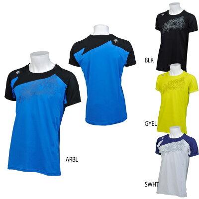 DESCENTE マルチSPTシャツBRZ+ ハーフスリーブシャツ メンズDMMLJA55Sホワイト