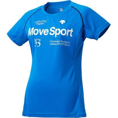 デサント ムーブスポーツレディース クールトランスファー ハーフスリーブシャツ/DMWLJA56/半袖Tシャツ