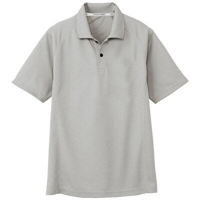 コーコス信岡 半袖 ポロシャツ シルバー L AS-1647 AS1647
