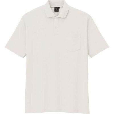 コーコス信岡 半袖ポロシャツ AS-257 ホワイト 4L