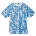アロハ柄半袖tシャツ ks-287 ブルー
