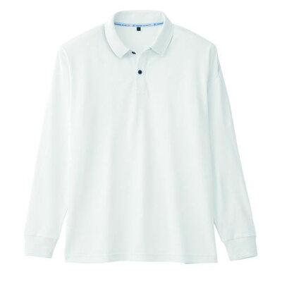コーコス信岡 3WAY 長袖 ポロシャツ ホワイト S A-1218 A1218