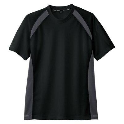 コーコス信岡 半袖Tシャツ 吸汗速乾 AS-627 ブラック S