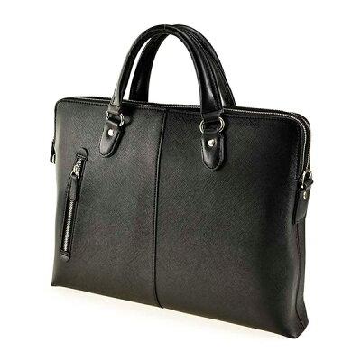 角シボ型押し合皮 薄マチビジネスブリーフ ビジネスバッグ