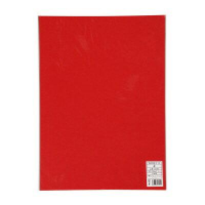 キングコーポレション 色画用紙 四つ切 5枚 赤1セット10枚入り