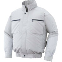 サンエス 空調風神服 長袖ブルゾン KU92600 シルバー XL(1着)