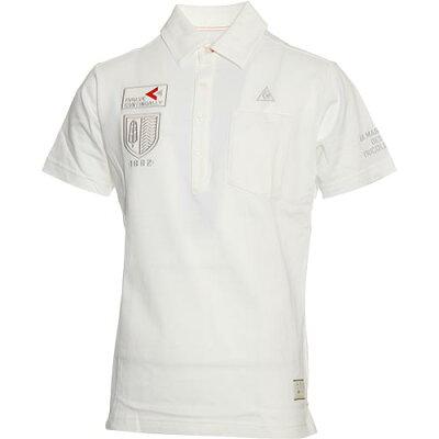ルコックゴルフ le coq GOLF メンズ 半袖 ポロシャツ ホワイト QGMLJA16 WH00