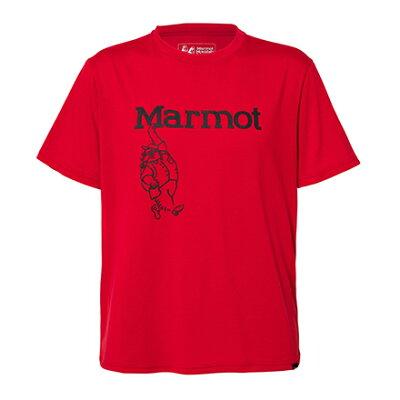 マーモット Marmot マーヴィンハーフスリーブティー Marvin Marmot H/S T メンズ TOMLJA55 CRED/チリレッド