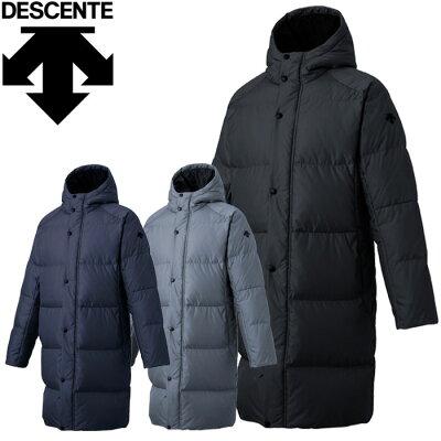 デサント DESCENTE メンズ トレーニングウェア ロングダウンコート ブラック DMMOJC42 BK