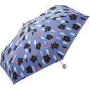 w.p.c (ワールドパーティ) 折りたたみ傘 手開き 日傘/晴雨兼用傘 花と雨 ブルー 6本骨 53cm コンパクト