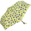 ワールドパーティー w.p.c 折りたたみ傘 日傘/晴雨兼用傘 北欧 港街 イエロー 木製ハンドル EE-00700