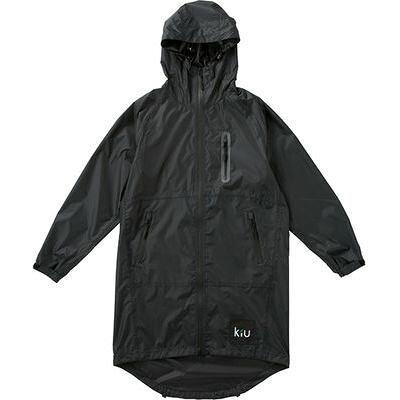 kiu/キウ K28-900 レイン パーカー ジップ アップ 防水 止水ファスナー 収納袋付き ブラック