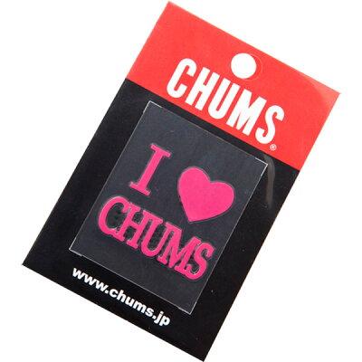 CHUMS チャムス アイラブチャムスエンボスステッカー CH620120