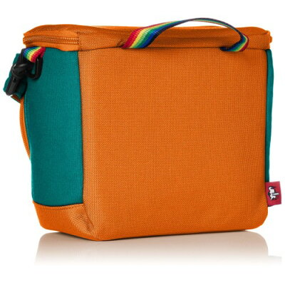 チャムス CHUMS カメラバッグ Box Camera Bag Sweat Nylon Teal/Orange