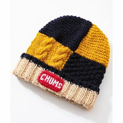 CHUMS  パッチワーク ニット ワッチ PATCHWORK KNIT WATCH ニット帽 ビーニー CH05-1129 メンズ レディース