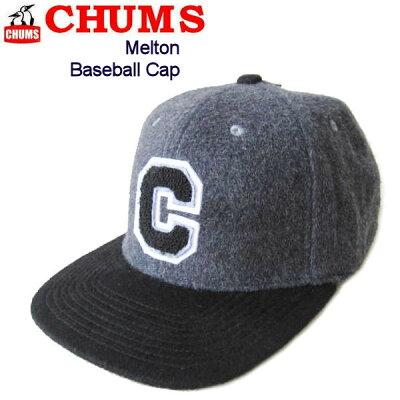 チャムス/CHUMS メルトンベースボールキャップMelton Baseball Cap CH05-1139 チャコール
