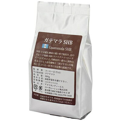 アメリカンディールスコーポレーション コーヒー生豆 ガテマラSHB 300g