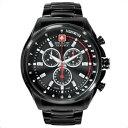 アミタ スイスミリタリー SWISS MILITARY レーシング Racing スイス製クオーツ ML-315 メンズ ブラック ウォッチ 腕時計 90891