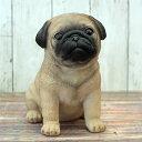 犬のオーナメント:パグ高さ20cm