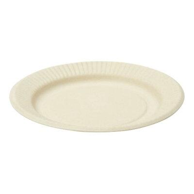 ideaco イデアコ TMシリーズ 紙皿風 食器 丸皿 ティーエムプレート 19cm オフホワイト